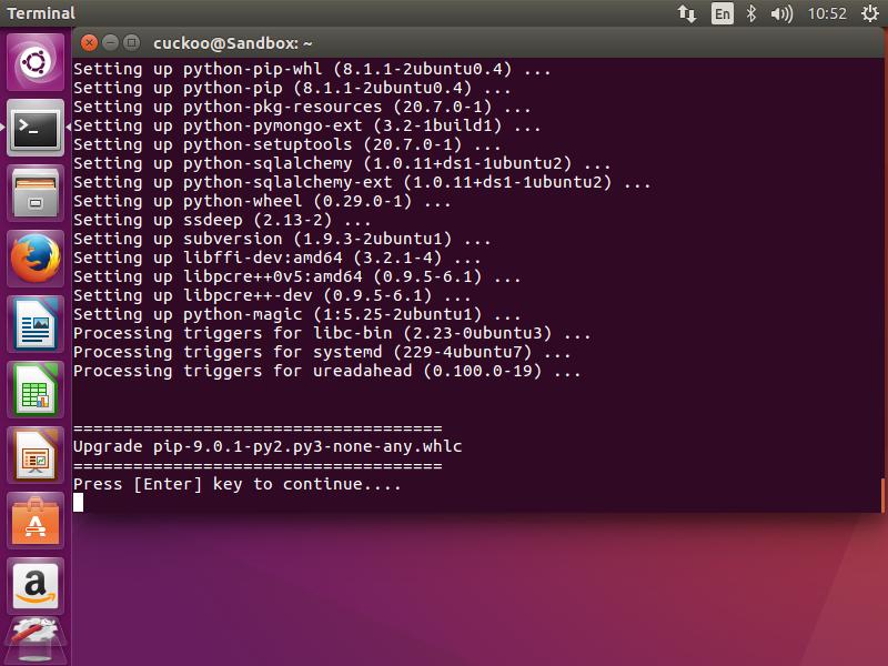 install pip 9.0.1 ubuntu 16.04