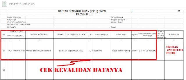 gambar format daftar pengikut Ujian DPU