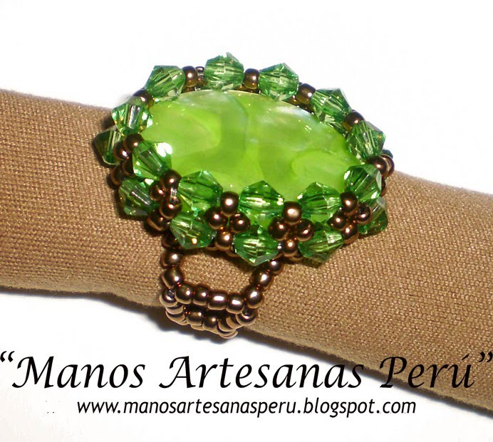 NEW!!! Green Apple_ring