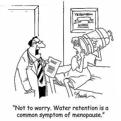 What causes water retention