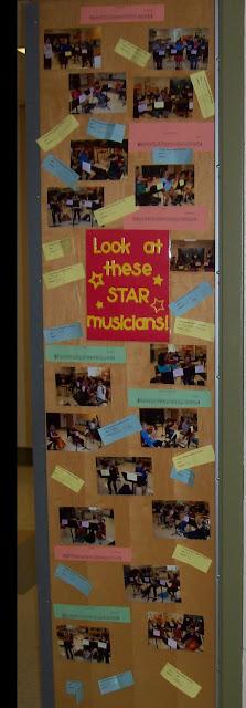 Star musicians bulletin board orchestra