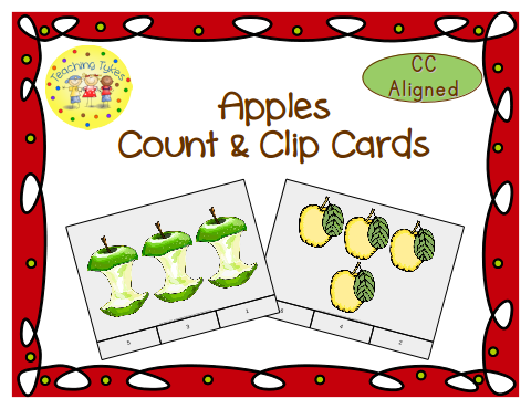 http://www.teacherspayteachers.com/Product/Apple-Count-Clip-Cards-Common-Core-Aligned-909125