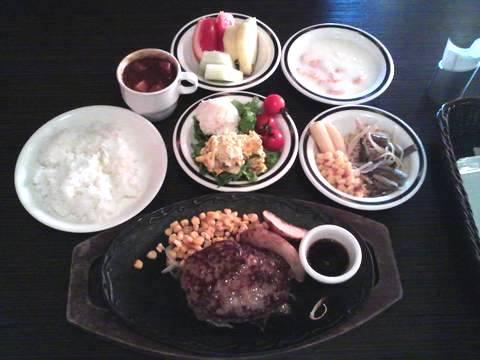 ハンバーグステーキ¥500 けん一宮店3回目