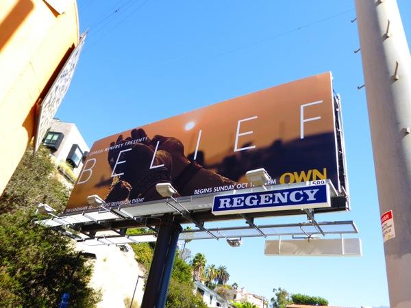 Belief Own TV miniseries billboard