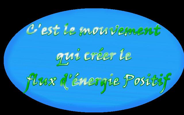 le mouvement créer l'énergie positif