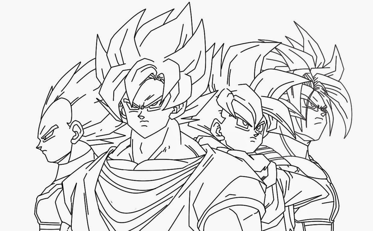 Dragon ball z dibujos para colorear for Dbz coloring pages