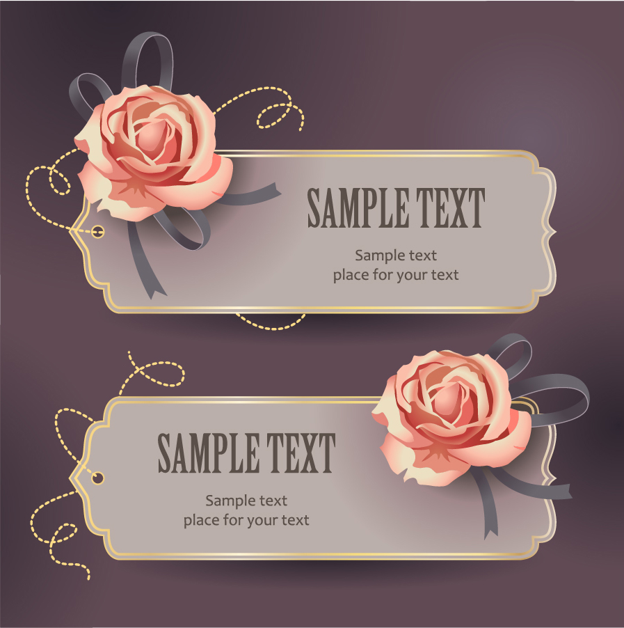  vintage rose card text template 