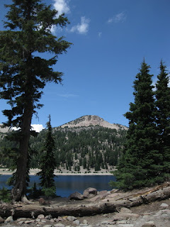 View of Lake Helen from our picnic table, Lassen Volcanic National Park, California