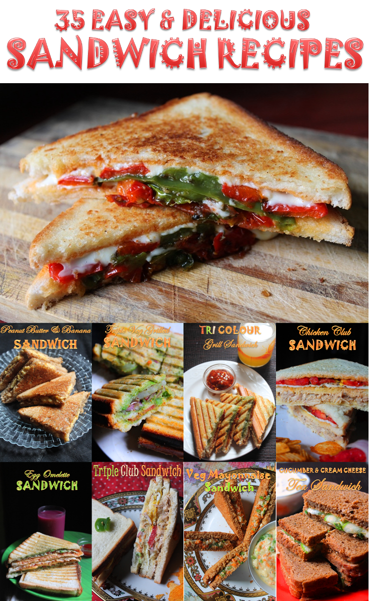 35 easy sandwich recipes veg non veg sandwich recipes best when you are up against time and when you want to make quick meale first thing you can think of is sandwiches sandwiches make a great breakfast forumfinder Choice Image