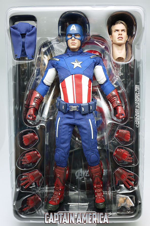 alien weapon 1//6 Scale Hot Toys MMS174 The Avenger Captain America