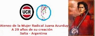 Ateneo de la Mujer Radical JUANA AZURDUY, a 29 años de su creación