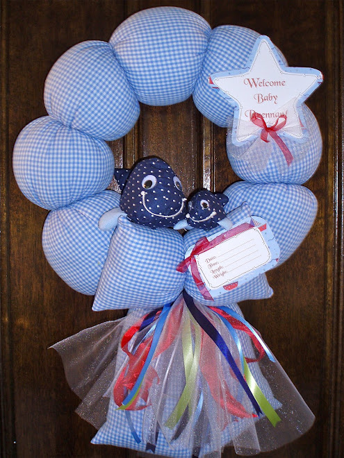 "64. custom ""jackson nursery"" baby wreath"