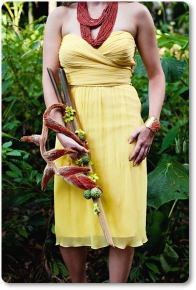 brudbukett djungel, annorlunda brudbukett, wedding bouquet jungle