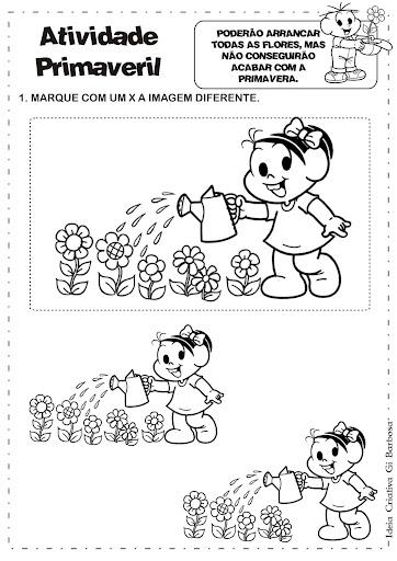 Atividade Primavera Igual/Diferente