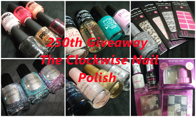 Sorteio 250 seguidores Blog The Clockwise Nail polish