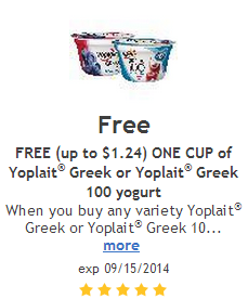 Greek yogurt coupons