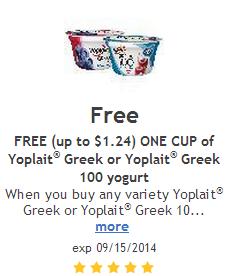 Greek yogurt coupons