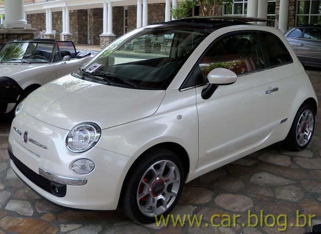 Novo Fiat 500 2012 - perfil dianteiro