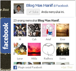 Facebook Like Box Melayang  di Blog