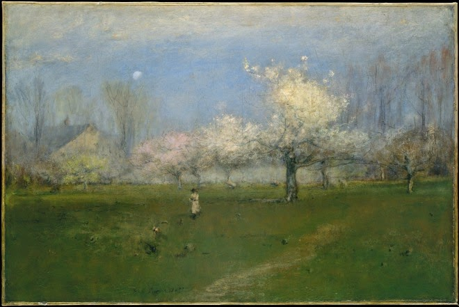 George Inness-Spring Blossoms, Montclair, New Jersey,ca.1891.