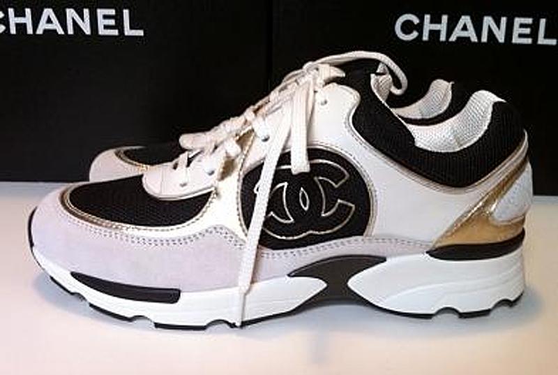 chanel tennis shoes for car interior design