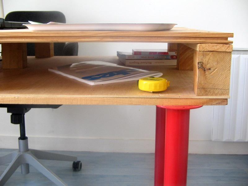 con detalle como se hace esta mesa con palets, se trata de un mueble