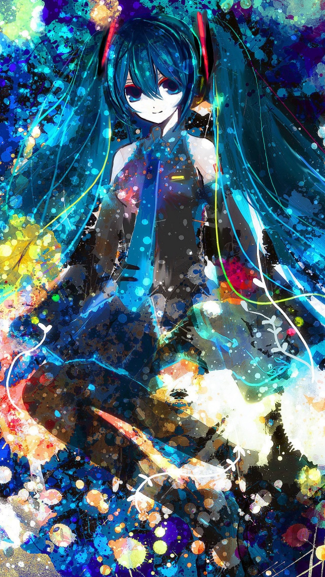 Hatsune Miku IPhone 5 Wallpaper