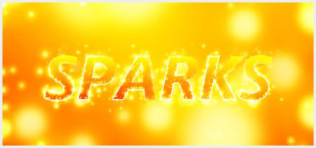 Sparksブラシで作るパーティクル風テキストエフェクト