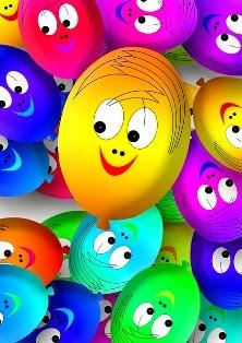 immagini di palloncini colorati che sorridono