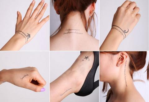 Những mẫu hình xăm đẹp - độc đáo cho nữ trên tay - chân - cổ - gáy - tai