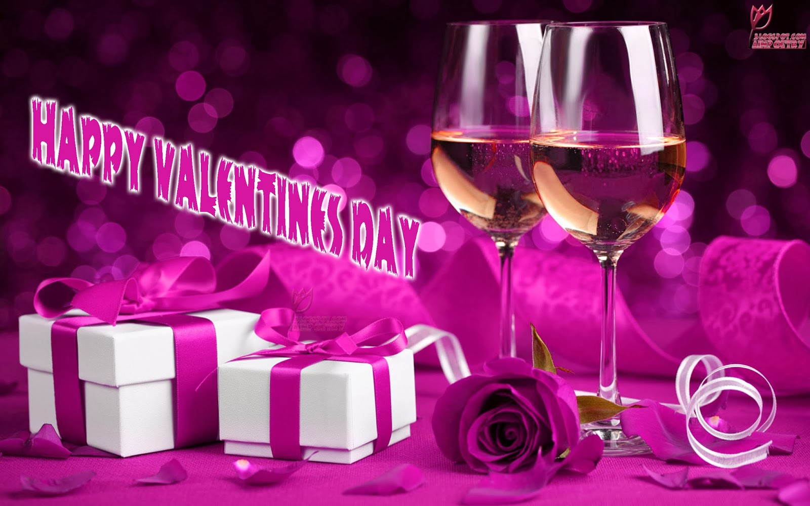 Happy-Valentines-Day-Wallpaper-Wishes-With-Gifts-And-Flowers-In-Pink-Colour-Image-HD