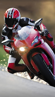 Red Ducati racing bike iphone 5 wallpaper