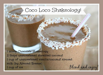 Chocolate and Coconut Coco Loco Shakeology Recipe