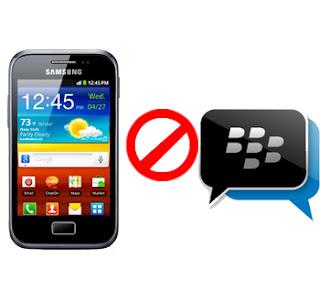 Pengguna Samsung tidak akan nikmati BlackBerry Messenger (BBM)