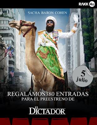 Entradas gratis preestreno de El Dictador