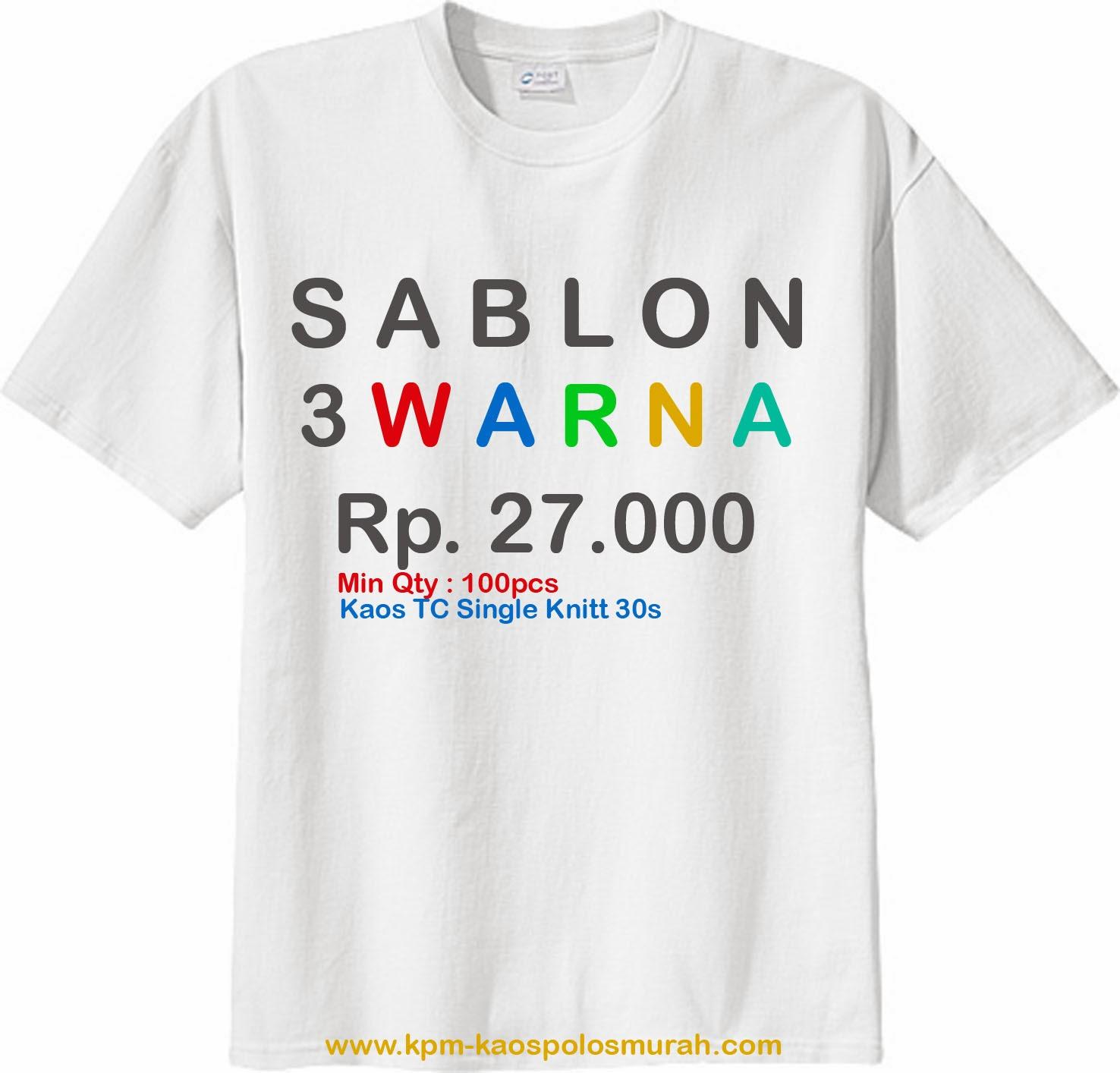 Sablon Kaos MURAH