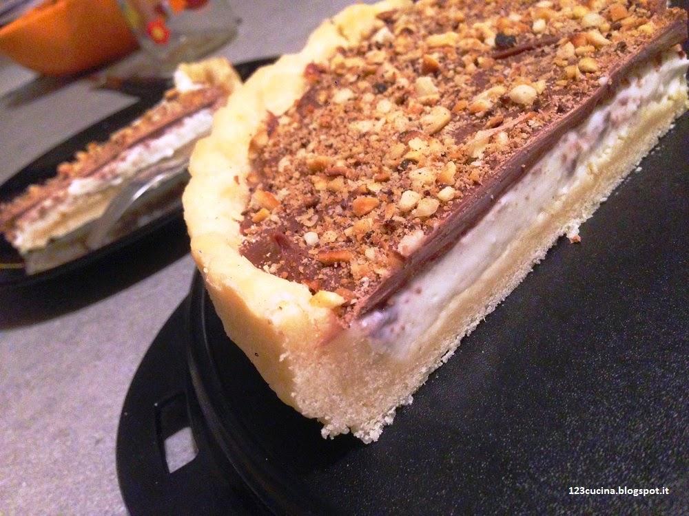 Crostata con crema al latte e cioccolato