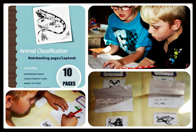 FREE ANIMAL CLASSIFICATION LAPBOOK/NOTEBOOKING PAGES