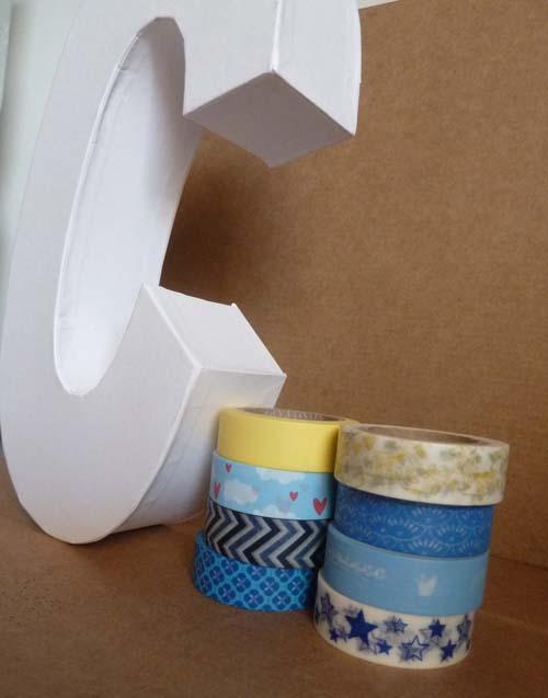 Mcompany style diy letra con washi tape - Como decorar con washi tape ...