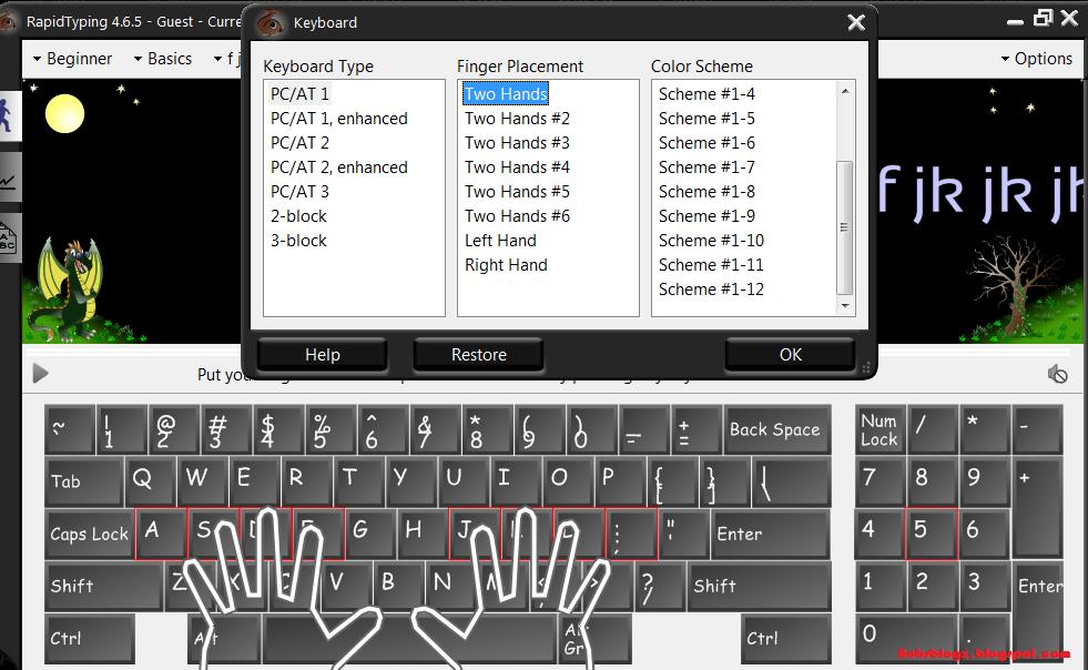 Cara cepat belajar mengetik & lancar menggunakan 10 jari dengan Rapid ...