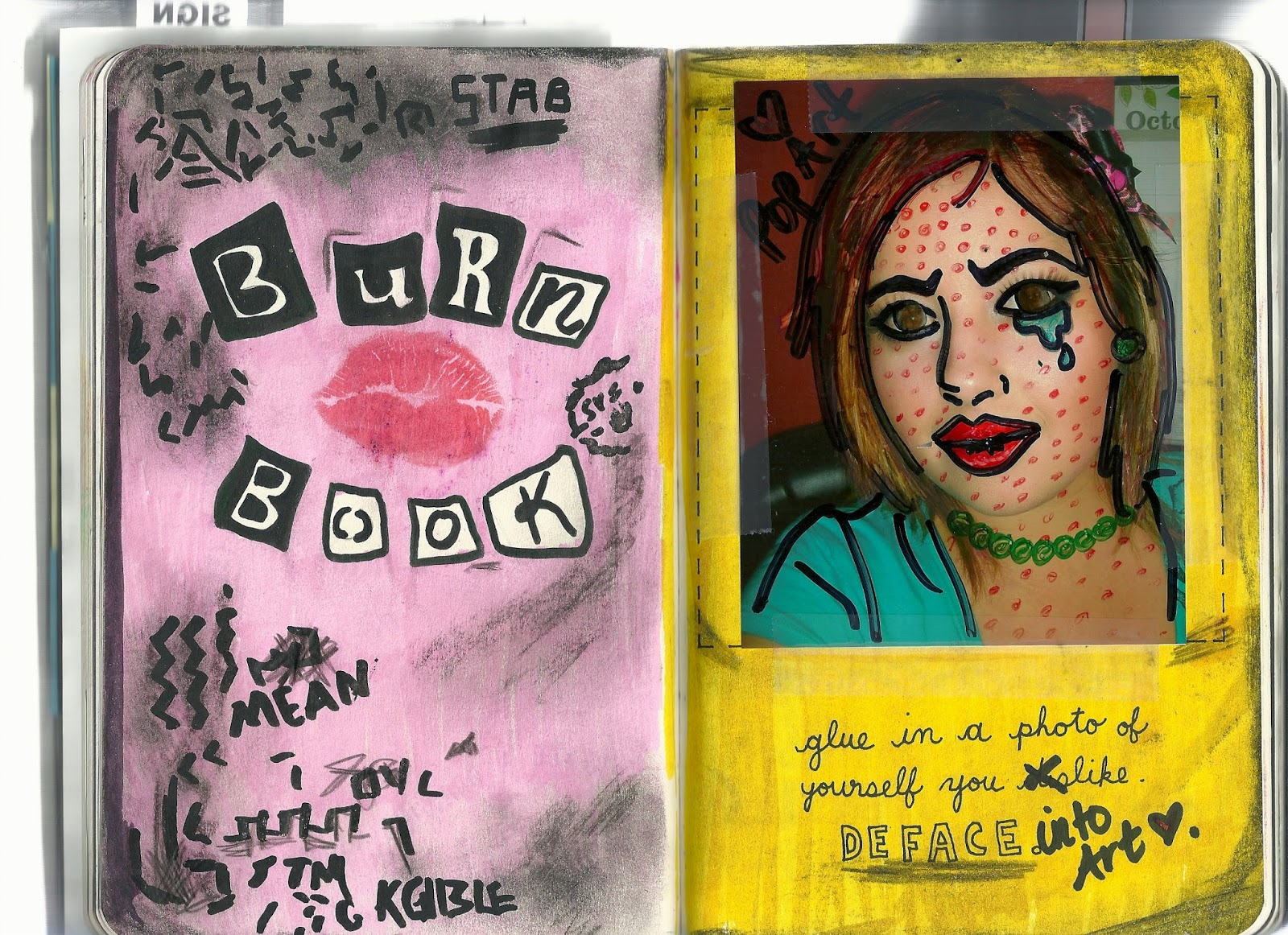 Krafty kids diy wtj pages 136 137 deface wreck this journal day 15 solutioingenieria Images