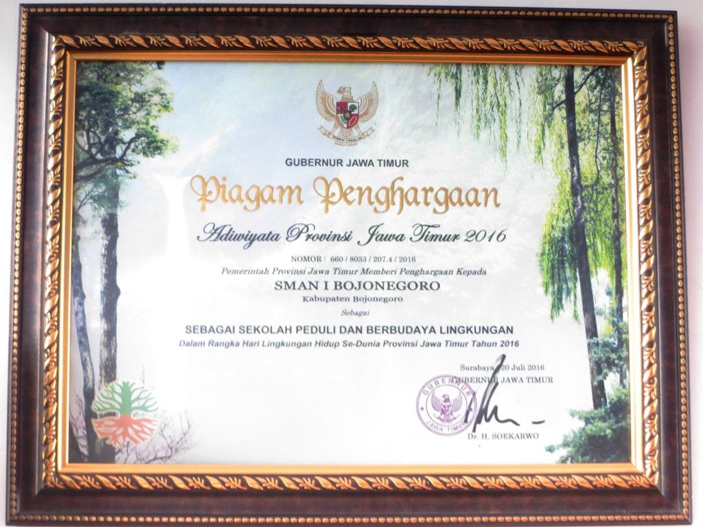Adiwiyata Propinsi Jawa Timur 2016
