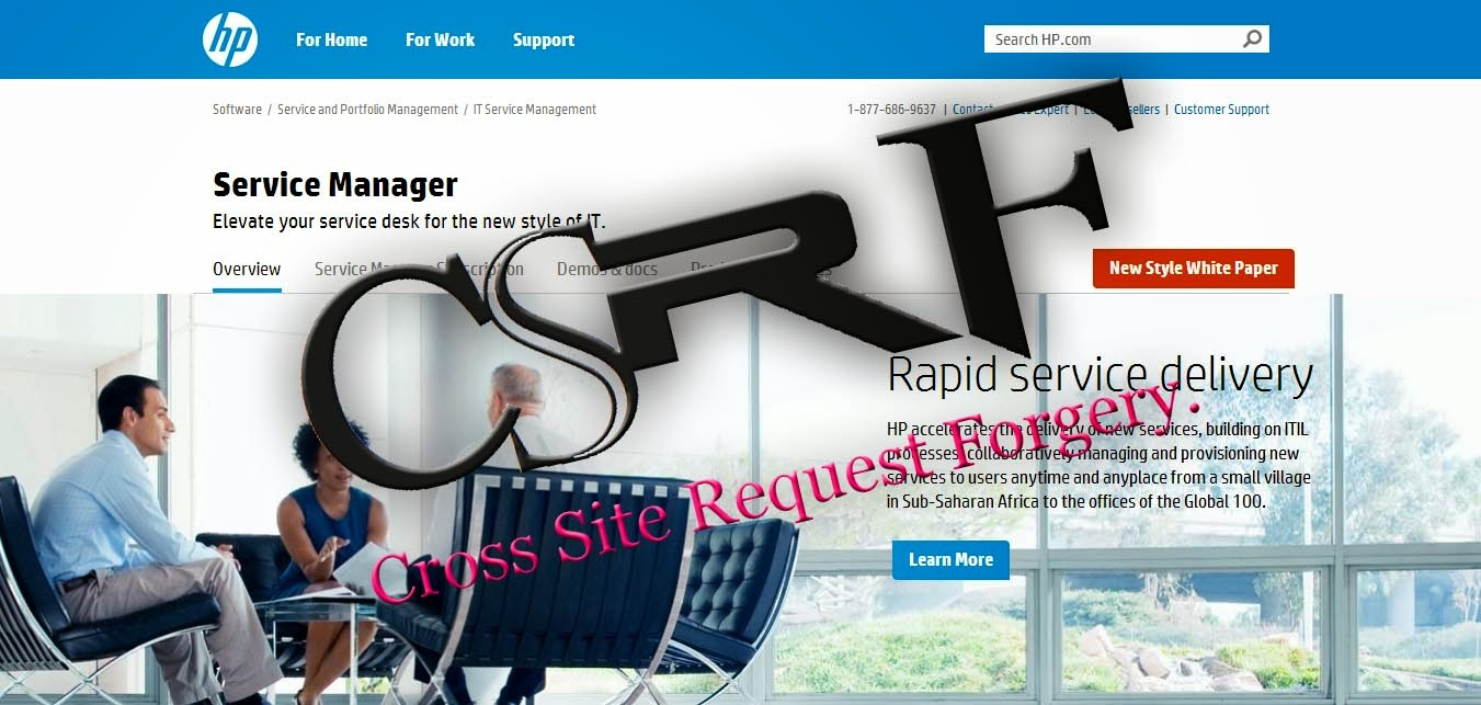 Cross-Site Request Forgery(CSRF)  in HP (Hewlett-Packard)