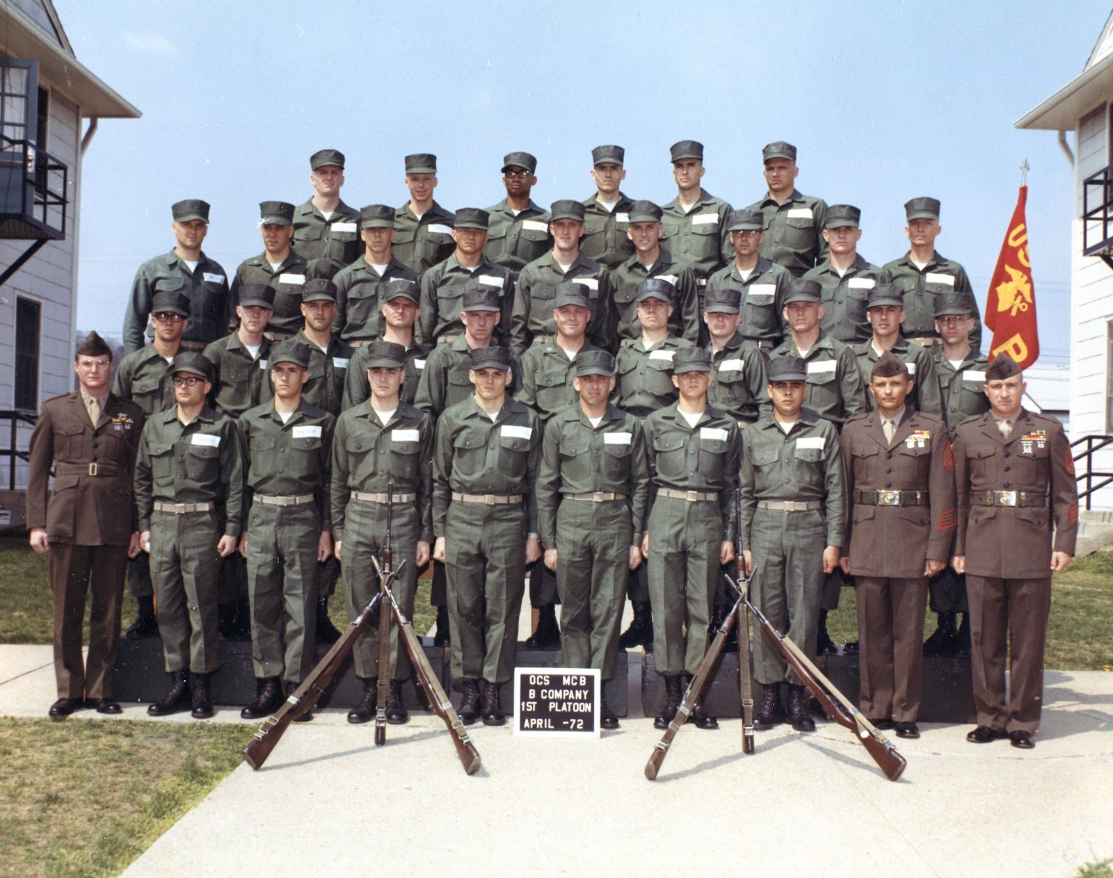 Rainbow arc of fire officer 39 s candidate school marine corps base quantico va april 1972 - Officer training school marines ...