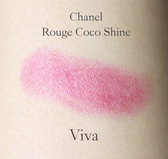 Chanel Rouge Coco Shine Viva swatch