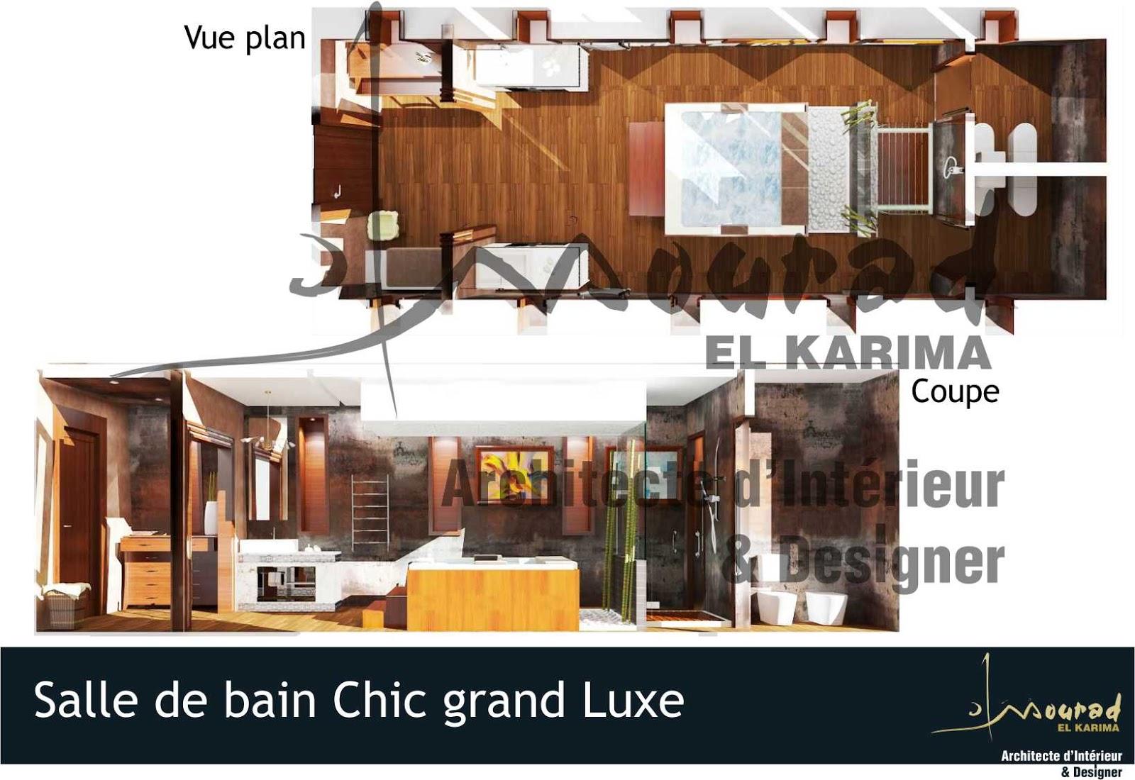 Salle de bain chic grand luxe mourad el karima for Architecte interieur salle de bain