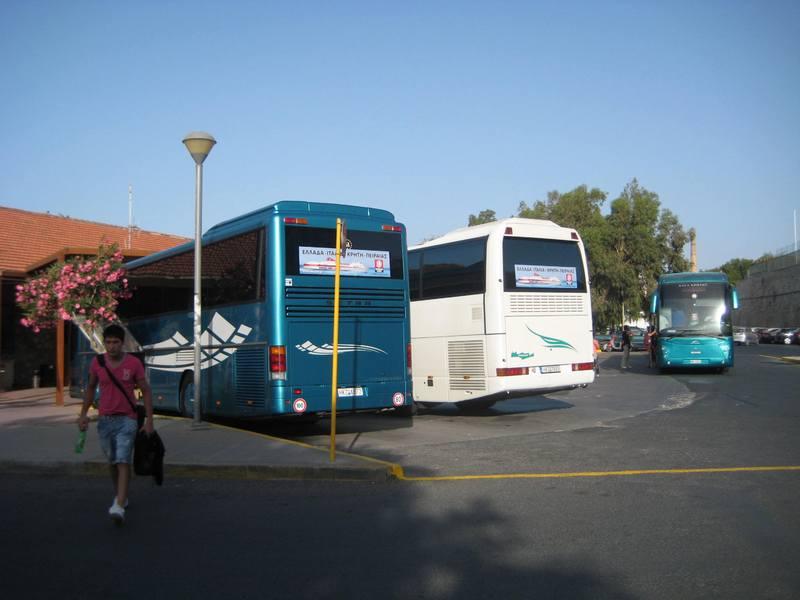 Autobuska stanica (leva strana od ulaza)