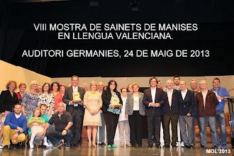 VIII MOSTRA DE SAINETS EN LLENGUA VALENCIANA. MANISES 2013.