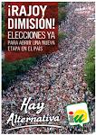 ¡Rajoy dimisión!  #HayAlternativa