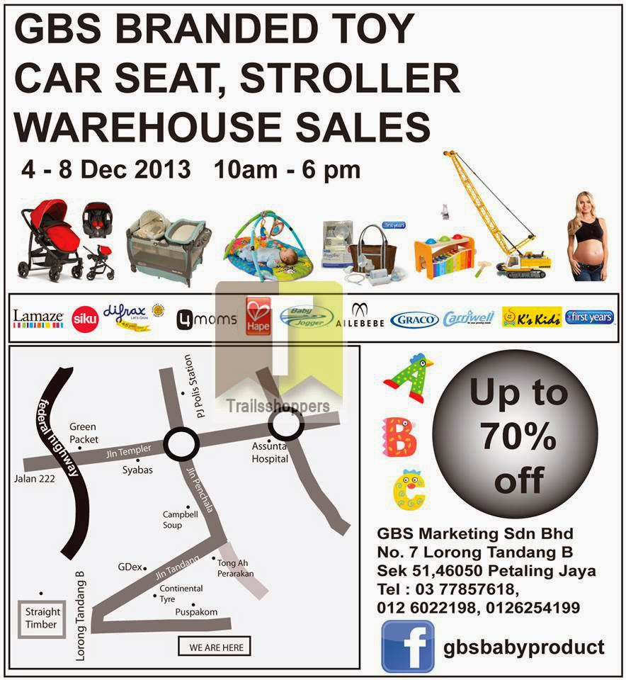 GBS Branded Toy Car Seat Stroller Warehouse Sales 2013